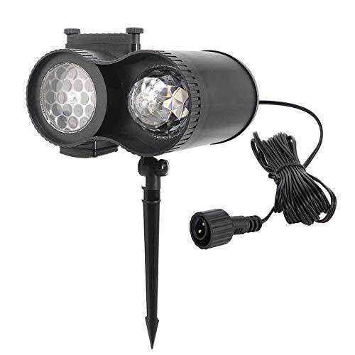 AC100V-240V 15W LEDs 48 Muster Mini Projektor Lichter Bewegen Drehbare Schneeflocke Lampe Wasser Welle Scheinwerfer Dynamische Landschaft Rasen Drehlicht IP44 Wasserbeständigkeit Unterstützt 12 -