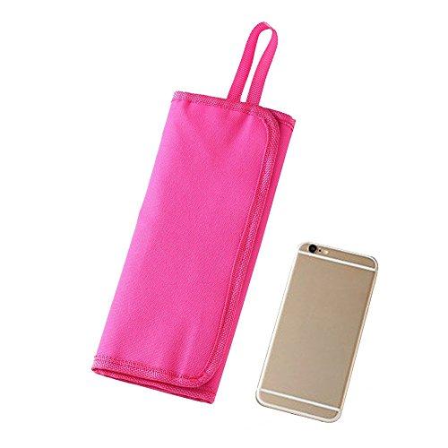Eizur Portable Picnic Posate titolare Forchetta Cucchiaio Stoviglie Borsa All'aperto Deposito Sacchetto Bag con 12 Tascabili - Rose