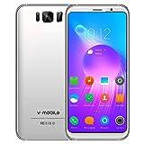 Telefonia Smartphone Offerte 4G V·Mobile S8 Supporta 16GB ROM 5.8 Pollici Dual SIM CPU 4 Core Android 7 Telefoni Cellulari in Offerta 8MP Fotocamera Batteria 2800mAh Wifi Cellulare GPS (Bianco)