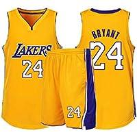 GBYN Lakers Kobe # 24 Traje de Entrenamiento de Baloncesto para Hombres, sin Mangas, Tejido Transpirable cómodo-24-XL
