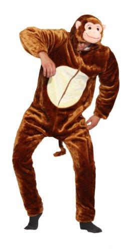 Foxxeo 13005 | Deluxe Affenkostüm Kostüm Affe plüsch Tier Affen Plüschkostüm Tierkostüm Gr M - XXL, (Plüsch Affe Kostüme)