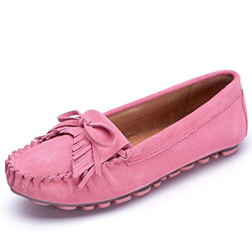 Chaussures de Doug/Flats Saleh de flux pour le summer Lady/Chaussures occasionnelles de cuir clair C