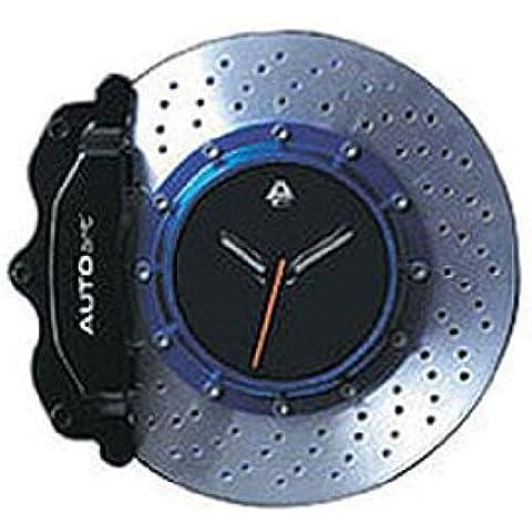 Auto Art 40013Orologio da parete in design nero/blu per i fan dei automobilistica per pinza del freno