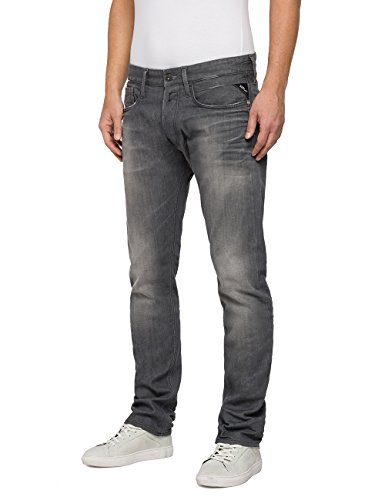 Replay Herren Loose Fit Jeans Newbill Grau (Grey Denim 9)