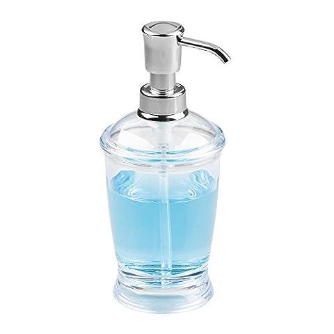 mDesign Distributeur de savon rechargeable – flacon à pompe noble