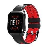 xinxinyu Smart Watch IP67 Impermeable Actividad frecuencia cardíaca presión Arterial Tracker notificación de Llamadas Reloj Deportivo para Hombre Mujer Fitness Tracker, Rojo