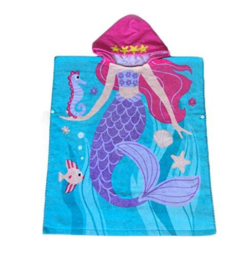 Repuhand 100% algodón Playa Toalla con Niños Niñas Encantador Ponchos Encapuchados baño Toalla de baño