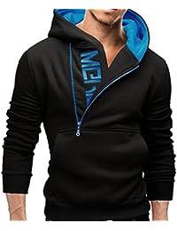 Odejoy Autunno invernale degli uomini Felpa con Cappuccio Zip Hooded Sweatshirt Hoodie Giacca Pullover Fresco Felpe manica lunga con superiori del cappotto del rivestimento Outwear