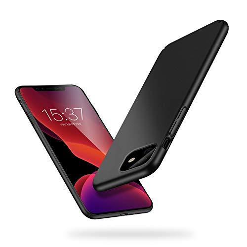 vau Hülle passend für iPhone 11 - Slim-Shell Case Handyhülle Schutzcase dünn matt schwarz (kompatibel mit Apple iPhone 11 r XIr 6.1 LCD 2019)