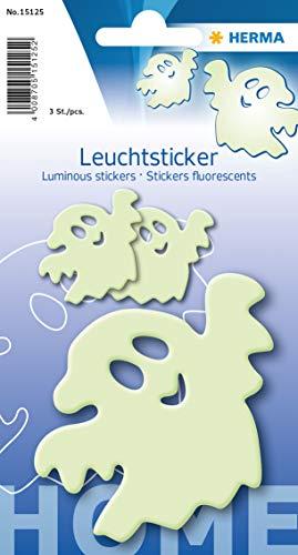 Herma 15125 Leuchtsticker (Gespenster, ablösbar & wieder verwendbar, für Kinder)