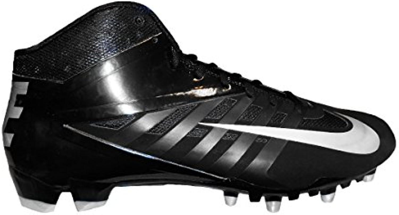 Nike Vapor Pro 3/4 TD Football Cleats 12.5  Black/White/Metallic Silver