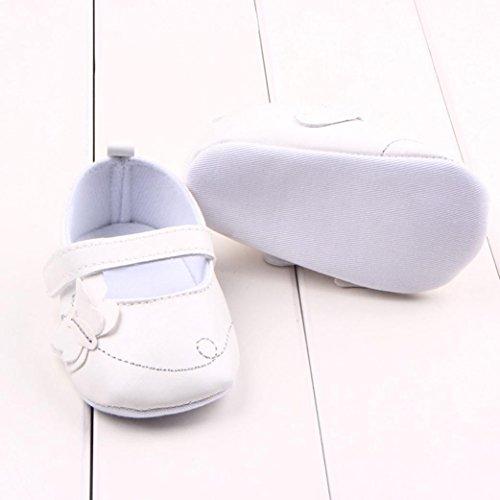 Ouneed® Krabbelschuhe , 0-18 Monate Infant Neugeborene Kleinkind Baby weiche Sohle Krippe Schuhe Weiß