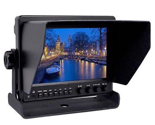 Gowe 17,8cm HD Video Monitor 1280* 800Auflösung IPS LCD Bildschirm HDMI-Eingang Umbau zu SDI Ausgang für DSLR-Kamera -