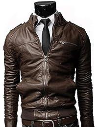Amazon.it  giacca ecopelle - Uomo  Abbigliamento dd69761a8c1
