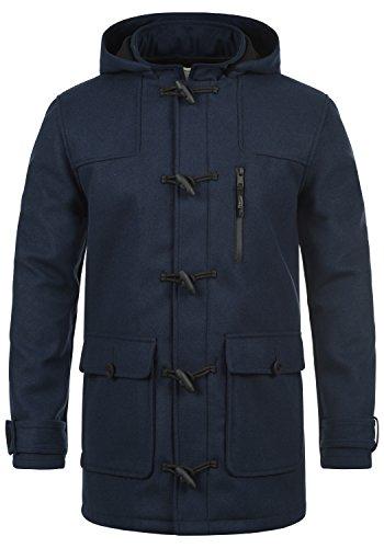 REDEFINED REBEL Mozart Herren Wintermantel Duffle Coat Wollmantel aus hochwertiger Baumwollmischung, Größe:L, Farbe:Navy