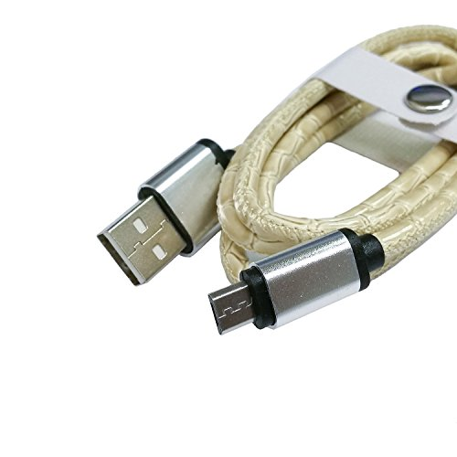 Snakeskin Texture 2A Micro USB a USB 2.0 dati / caricatore per i dispositivi Android ( Color : Beige )