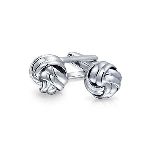 Bling Jewelry Executive Runde Ball Gewebte Borte Twist Kabel Seil Knoten Manschettenknöpfe Für Herren Sterling Silber Scharnier Zurück