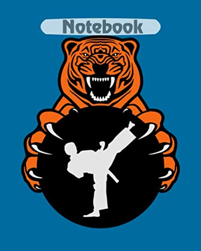 Notebook: karate tiger - 50 sheets, 100 pages - 8 x 10 inches