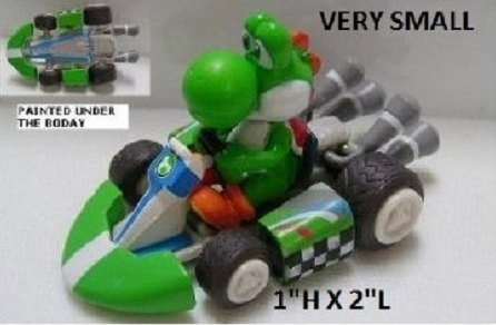 Furuta SUPER MARIO WII MINI KART FIGUREN YOSHI (2.5CM X 4CM Mini Figure) (Mario Kart Wii Mini)