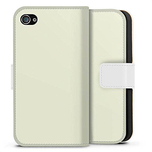 Apple iPhone X Silikon Hülle Case Schutzhülle Pastellgrün Grün Green Sideflip Tasche weiß