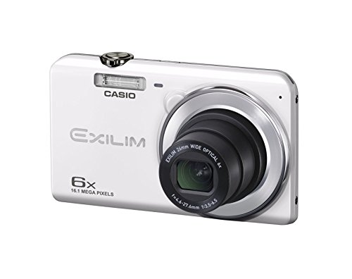 CASIO digital camera EXILIM EX-ZS27WE wide-angle 26mm optical 6-fold zoom premium auto 16.1 million pixels white