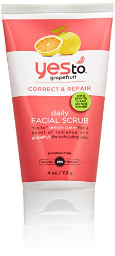 Yes to Grapefruit Daily Facial Scrub, 4 Ounce by Yes To Grapefruit [Beauty] (English Manual)