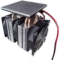 12V 240W Placa de enfriamiento del semiconductor de chip Peltier Chip Placa de enfriamiento de gran potencia asistida por computadora (Color: Negro)