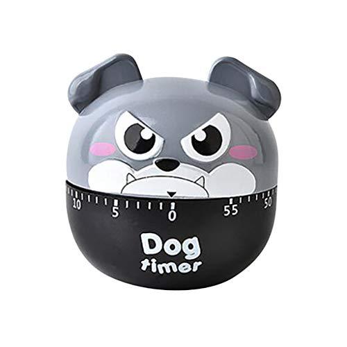 LILIGOD Timer Plastic Machine Timer 60 Min. Wecker Küchenstoppuhr Küchenhelfer Süß Welpen-Time
