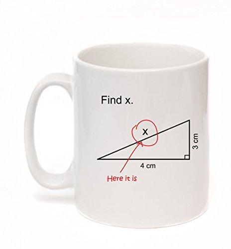 Finden X Neuheit Mathematik Mathematik Frage Lehrer Professor Student Geschenk Tasse–Kruzroyal