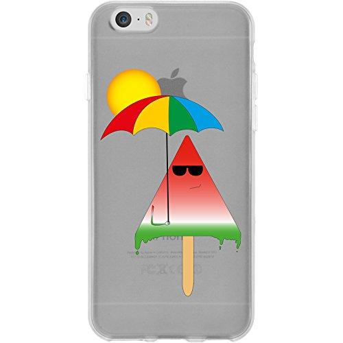 PhoneNatic Apple iPhone 6s / 6 Custodia in Silicone estate M1 Case iPhone 6s / 6 + pellicola protettiva Motif 06: Gelato