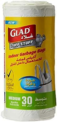 Glad Garbage Medium White Handle 30 Bags, 35 Liters