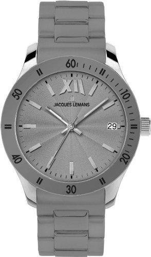 Jacques Lemans Rome Sports 1-1622U Unisex Grey Silicone Strap Watch
