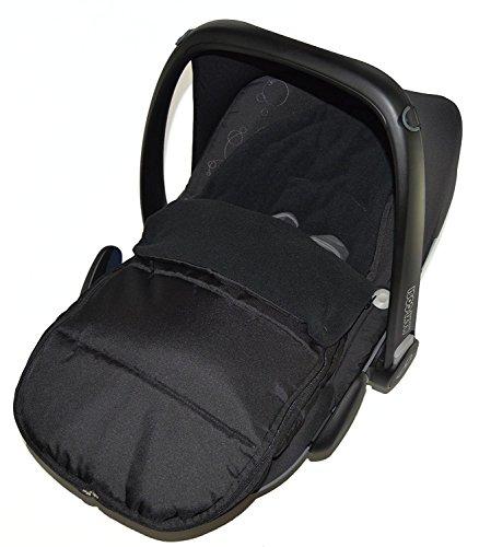 Autositz Fußsack/COSY TOES kompatibel mit Maxi Cosi Cabrio Black Jack