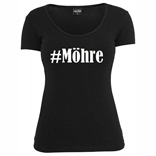 T-Shirt #Möhre Hashtag Raute für Damen Herren und Kinder ... in der Farbe Schwarz Schwarz