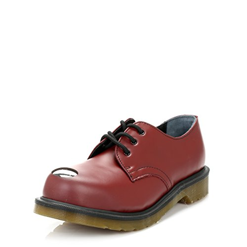 Dr Martens - Keaton Steel Toe Cap - Cherry Rouge Smooth