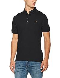 Farah Vintage Merriweather - T-shirt à manches longues - Col à boutons - Manches longues - Homme