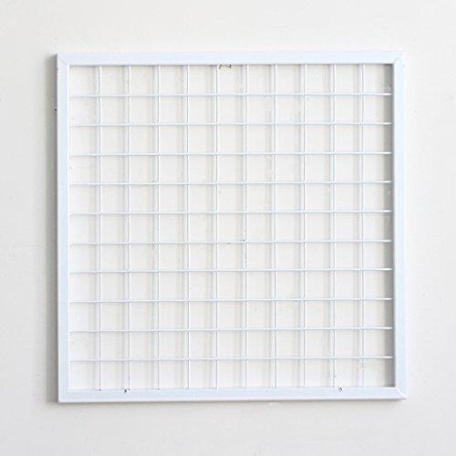 DIY Gitter Foto Wand, Stacheldraht Foto Wand / Wand Kunst Ausstellung und Finishing, (60 * 60 cm, weiß) ( Size : Grid photo wall )