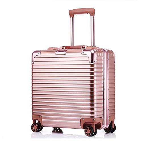 XDD Business 18 Zoll Computer Trolley Boarding Chassis Rollgepäck Passwort Koffer Hardshell 8-Rad Spinner Aufrechtes Gepäck für Frauen und Männer,B,43 * 42 * 20cm -
