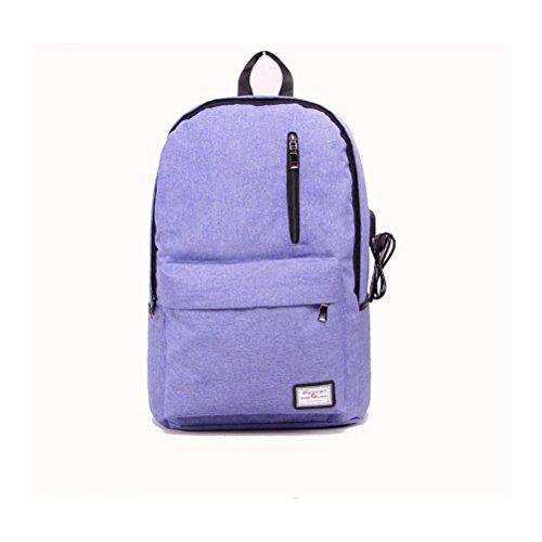 16 Hafen-faser (Backpack Laptop-Rucksack 17 Zoll mit USBAufladen Hafen , blue)