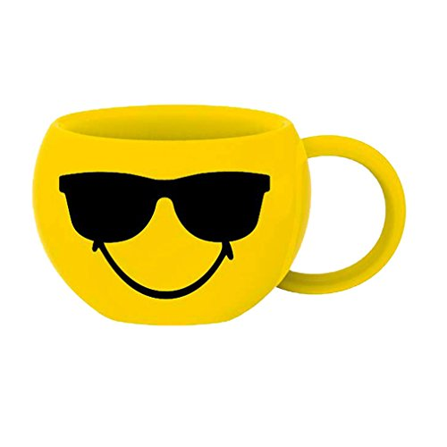Zak Designs 6727-013 mug, céramique, Jaune, 7 x 8 x 5 cm