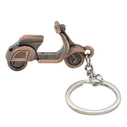Sunlight House Creative 3D Motorrad Roller Anhänger Schlüsselanhänger Schlüsselanhänger Handtasche Anhänger Auto Schlüsselanhänger Geschenk, Silber, M -
