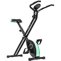Cecotec Bicicleta estática Xbike Bicicleta plegable magnética. Con Pulsómetro y Pantalla LCD. Resistencia Variable
