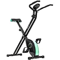 Cecotec Bicicleta estática Xbike Bicicleta Plegable magnética. con Pulsómetro y Pantalla LCD. Resistencia Variable. Pedales de máximo Agarre. Sillín Confort.