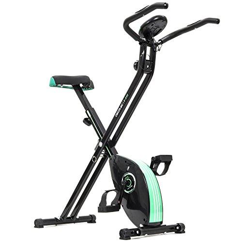 Cecotec Bicicleta Estática Plegable Magnética X-Bike, Unisex, Negro