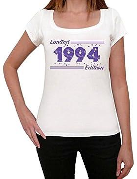 1994 Limited Edition Star Mujer Camiseta Blanco Regalo De Cumpleaños