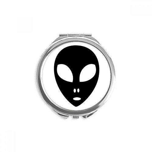 DIYthinker Universum Alien Monster-Kopf-Portrait Spiegel Runde bewegliche Handtasche -
