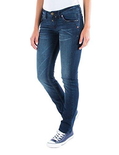Timezone Damen Straight Jeans Slim Tahila Blau (Basic 3043)