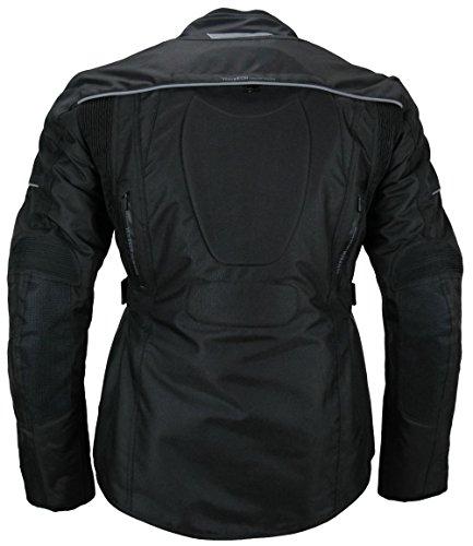Heyberry Textil Damen Motorradjacke Lang Schwarz Gr. M - 3