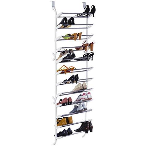 Pureday miaVILLA Schuhregal für die Tür - Zum Hängen - Für bis zu 36 Paar Schuhe - Kunststoff, Metall