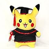 hzbftoy Morbido Peluche Giocattolo,Pikachu ,pelh Giocattolo Pikachu Cos Bachelor Abbigliamento Torna A Scuola Presente per Compagno di Classe Regalo di Laurea 30cm Medico Pikachu